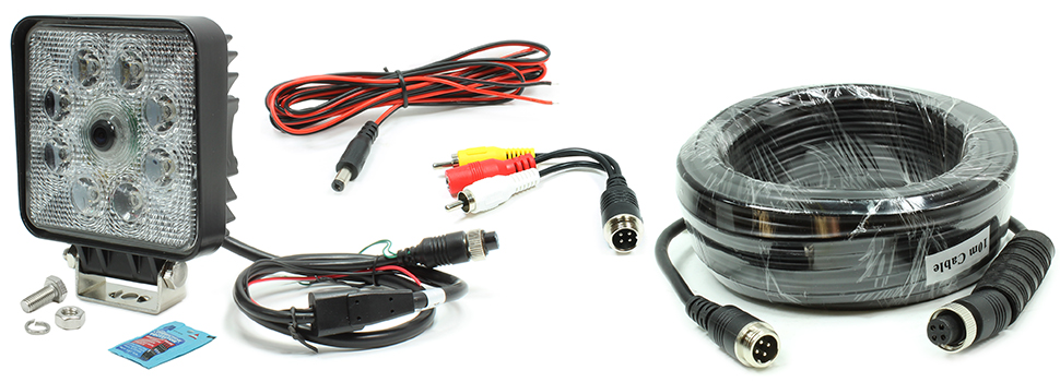 VSM 250-8171-HD-10M Includes 250-8171HD Camera with 10-Meter Video Extension Harness, DC Power Harness, and RCA Video Adapter