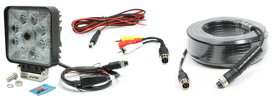 VSM 250-8171-HD-20M Includes 250-8171HD Camera with 20-Meter Video Extension Harness, DC Power Harness, and RCA Video Adapter