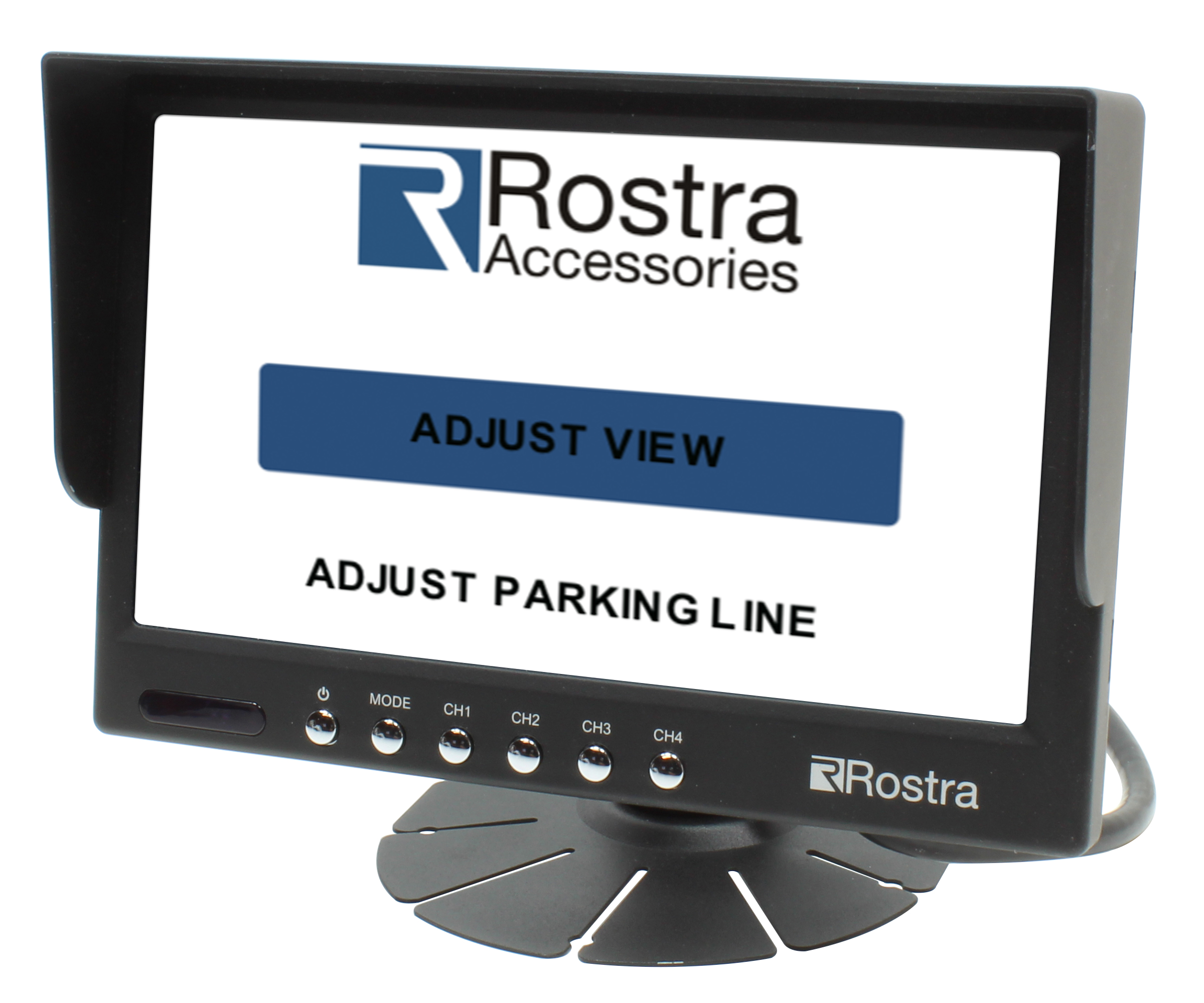 Adjustable parking guidelines can be updated as needed to match the height and width of the vehicle