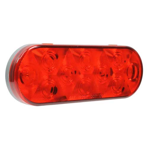 VSM6440 low-profile 6-inch 10-diode red stop/tail/turn signal lamp