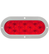 6457 6-inch Oval Red S/T/T Lamp with Grey Flange Mount