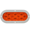 6457A 6-inch Oval Amber Auxiliary Lamp with Grey Flange Mount
