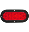 6458 6-inch Oval Red S/T/T Lamp with Black Flange Mount