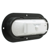 VSM6458W 6-inch 10 diode clear utility lamp with black flange mount