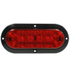6466 6-inch Oval Red S/T/T Lamp with Black Surface Mount Flange