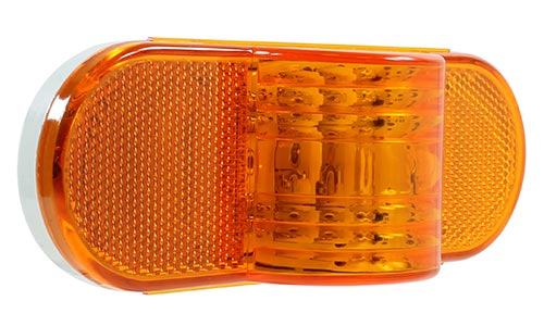 VSM6564A amber sealed 9 Diode LED auxiliary turn/marker lamp