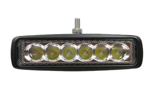 VSM685 18-watt LED light bar with complete mounting hardware and two-wire harness